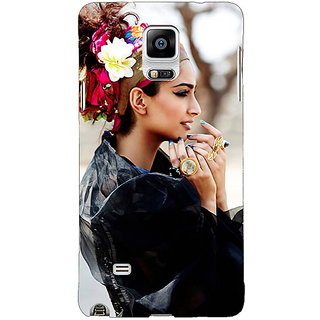 1 Crazy Designer Bollywood Superstar Sonam Kapoor Back Cover Case For Samsung Galaxy Note 4 C210984