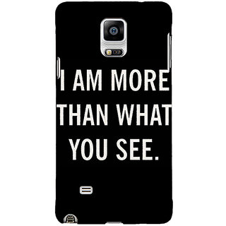 1 Crazy Designer Quote Back Cover Case For Samsung Galaxy Note 4 C211230