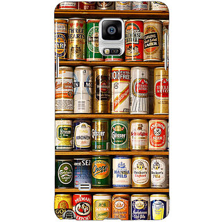 1 Crazy Designer Beer Cans Back Cover Case For Samsung Galaxy Note 4 C211233
