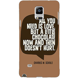 1 Crazy Designer Chocolate Love Quote Back Cover Case For Samsung Galaxy Note 4 C211306