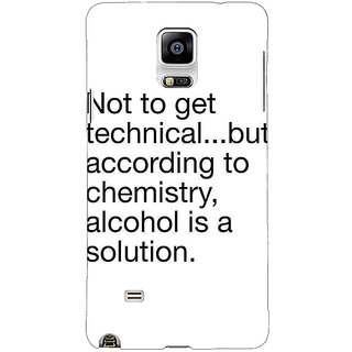 1 Crazy Designer Alcohol Quote Back Cover Case For Samsung Galaxy Note 4 C211310