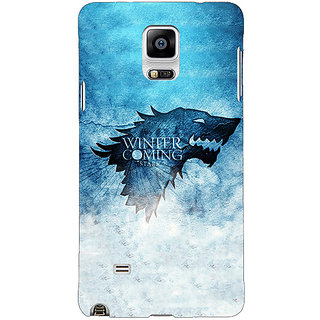 1 Crazy Designer Game Of Thrones GOT House Stark Back Cover Case For Samsung Galaxy Note 4 C211549