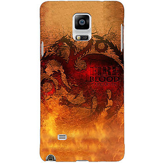 1 Crazy Designer Game Of Thrones GOT House Targaryen Back Cover Case For Samsung Galaxy Note 4 C211550