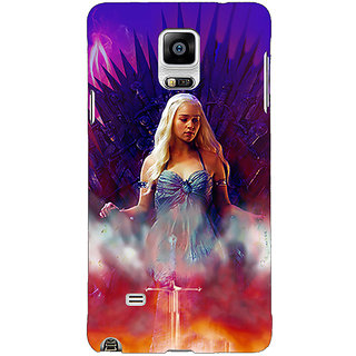 1 Crazy Designer Game Of Thrones GOT Khaleesi Daenerys Targaryen Back Cover Case For Samsung Galaxy Note 4 C211552