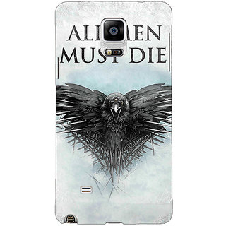 1 Crazy Designer Game Of Thrones GOT All Men Must Die Back Cover Case For Samsung Galaxy Note 4 C211556