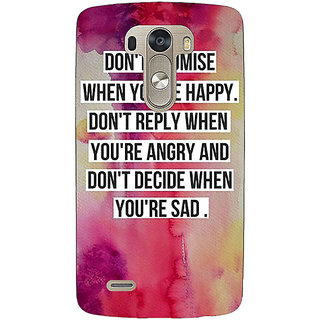1 Crazy Designer Wise Quote Back Cover Case For Lg G3 D855 C221144