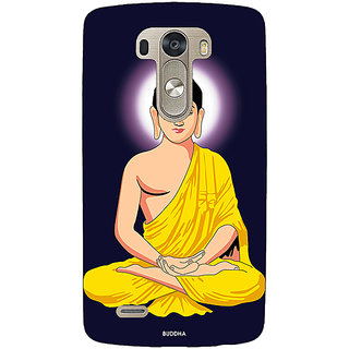 1 Crazy Designer Gautam Buddha Back Cover Case For Lg G3 D855 C221266