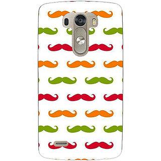 1 Crazy Designer Moustache Back Cover Case For Lg G3 D855 C221450