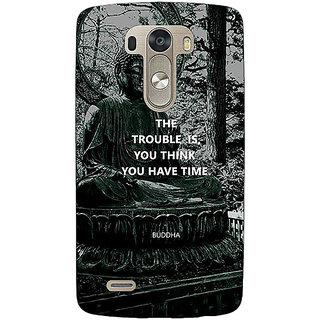 1 Crazy Designer Gautam Buddha Back Cover Case For Lg G3 D855 C221276
