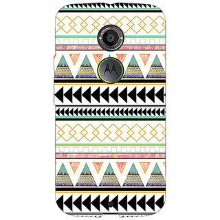 1 Crazy Designer Aztec Girly Tribal Back Cover Case For Moto X (2nd Gen) C230067