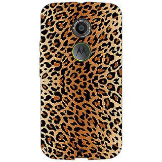 1 Crazy Designer Cheetah Leopard Print Back Cover Case For Moto X (2nd Gen) C230078