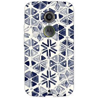 1 Crazy Designer Snow winter Pattern Back Cover Case For Moto X (2nd Gen) C230278