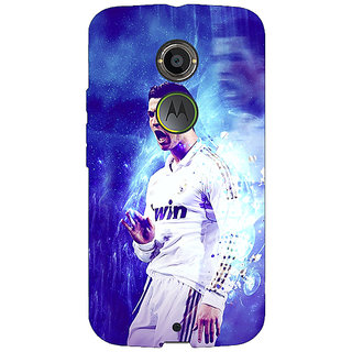 1 Crazy Designer Cristiano Ronaldo Real Madrid Back Cover Case For Moto X (2nd Gen) C230308
