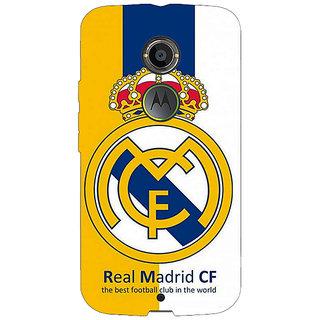 1 Crazy Designer Real Madrid Back Cover Case For Moto X (2nd Gen) C230591