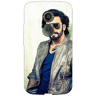 1 Crazy Designer Bollywood Superstar Ranveer Singh Back Cover Case For Moto X (2nd Gen) C230943