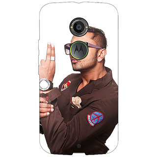 1 Crazy Designer Bollywood Superstar Honey Singh Back Cover Case For Moto X (2nd Gen) C231183