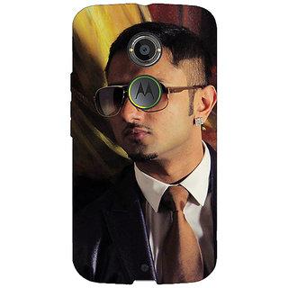 1 Crazy Designer Bollywood Superstar Honey Singh Back Cover Case For Moto X (2nd Gen) C231184