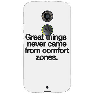 1 Crazy Designer Quotes Back Cover Case For Moto X (2nd Gen) C231196