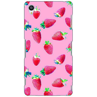 1 Crazy Designer Strawberry Pattern Back Cover Case For Sony Xperia Z3 C260203
