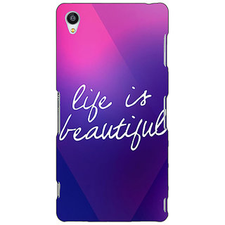 1 Crazy Designer Quotes Life is Beautiful Back Cover Case For Sony Xperia Z3 C261131