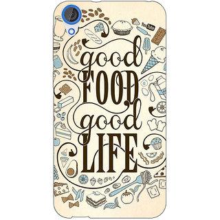 1 Crazy Designer Good Food Quote Back Cover Case For HTC Desire 820 C281226