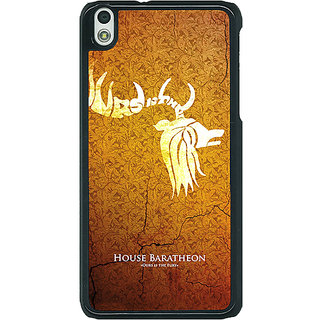1 Crazy Designer Game Of Thrones GOT House Baratheon  Back Cover Case For HTC Desire 816 Dual Sim C390171