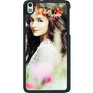 1 Crazy Designer Bollywood Superstar Alia Bhatt Back Cover Case For HTC Desire 816 Dual Sim C391028