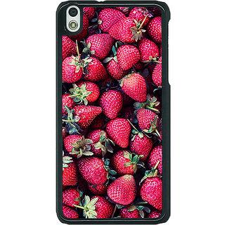 1 Crazy Designer Strawberry Pattern Back Cover Case For HTC Desire 816G C400201