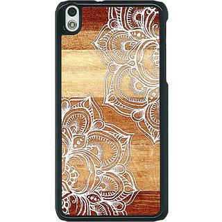1 Crazy Designer White Brown Doodle Pattern Back Cover Case For HTC Desire 816G C400212