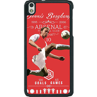 1 Crazy Designer Arsenal Dennis Bergkamp Back Cover Case For HTC Desire 816G C400501
