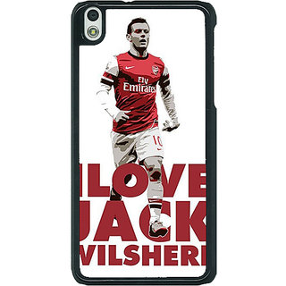1 Crazy Designer Arsenal Jack Wilshere Back Cover Case For HTC Desire 816G C400520