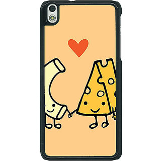 1 Crazy Designer Cheese Donut Love Back Cover Case For HTC Desire 816G C401133