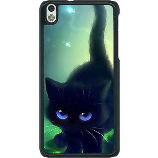 1 Crazy Designer Cute Black Kitten Back Cover Case For HTC Desire 816G C401138