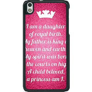 1 Crazy Designer Princes Quotes Back Cover Case For HTC Desire 816G C401168