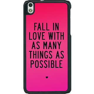 1 Crazy Designer Quotes Love Back Cover Case For HTC Desire 816G C401169