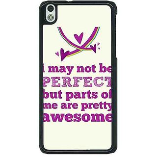 1 Crazy Designer Quote Back Cover Case For HTC Desire 816G C401355