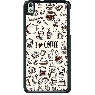 1 Crazy Designer Coffee Love Back Cover Case For HTC Desire 816G C401430