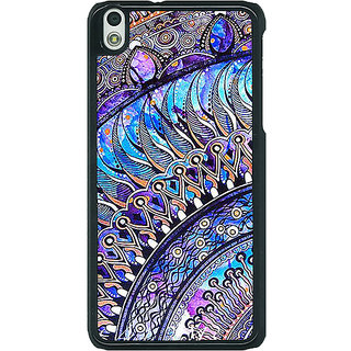 1 Crazy Designer Paisley Beautiful Peacock Back Cover Case For HTC Desire 816G C401587