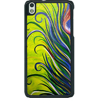 1 Crazy Designer Paisley Beautiful Peacock Back Cover Case For HTC Desire 816G C401590
