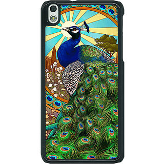 1 Crazy Designer Paisley Beautiful Peacock Back Cover Case For HTC Desire 816G C401595