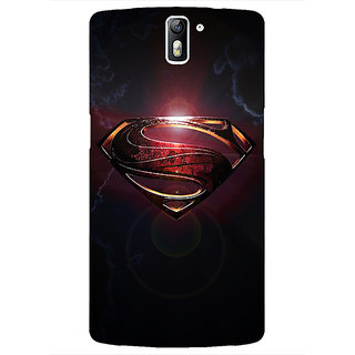 1 Crazy Designer Superheroes Superman Back Cover Case For OnePlus One C410035