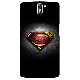 1 Crazy Designer Superheroes Superman Back Cover Case For OnePlus One C410037