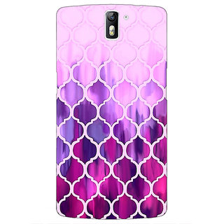 1 Crazy Designer Pink Magenta Moroccan Tiles Pattern Back Cover Case For OnePlus One C410298