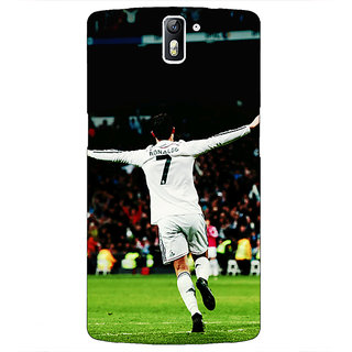 1 Crazy Designer Cristiano Ronaldo Real Madrid Back Cover Case For OnePlus One C410311