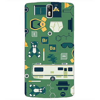1 Crazy Designer Breaking Bad Back Cover Case For OnePlus One C410415