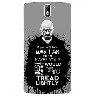 1 Crazy Designer Breaking Bad Heisenberg Back Cover Case For OnePlus One C410427