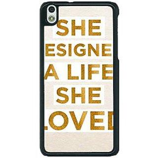 1 Crazy Designer Quotes Beautiful Back Cover Case For HTC Desire 816G C401190