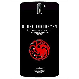 1 Crazy Designer Game Of Thrones GOT House Targaryen  Back Cover Case For OnePlus One C410144