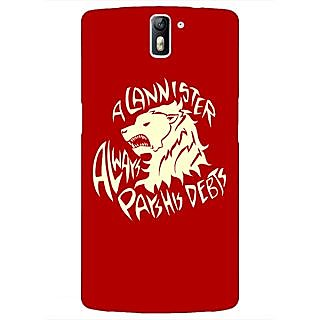 1 Crazy Designer Game Of Thrones GOT House Lannister  Back Cover Case For OnePlus One C410156
