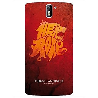 1 Crazy Designer Game Of Thrones GOT House Lannister  Back Cover Case For OnePlus One C410158